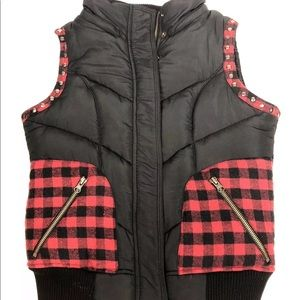 MISS ME Women's Puffy Vest SMALL Juniors Puffer